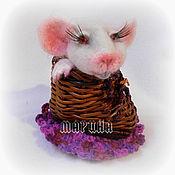 Куклы и игрушки ручной работы. Ярмарка Мастеров - ручная работа МЫШОНОК миниатюра валяние. Handmade.