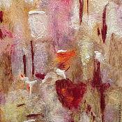 """Картины и панно ручной работы. Ярмарка Мастеров - ручная работа Картина из шерсти """"Зарождающееся чувство"""". Handmade."""