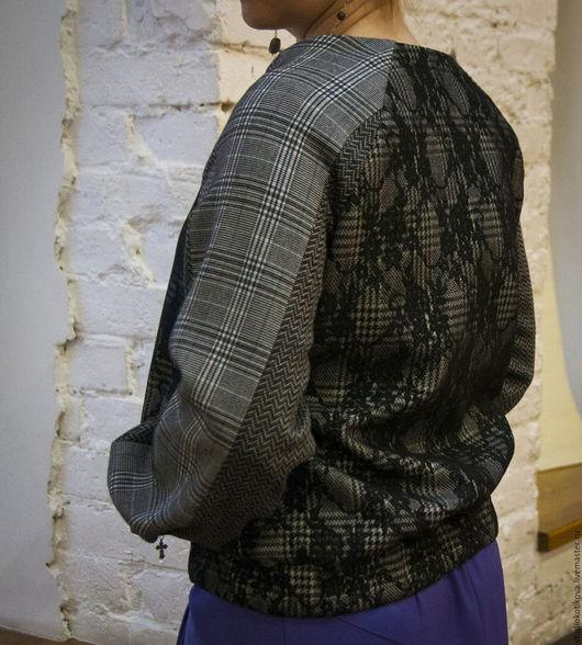 Верхняя одежда ручной работы. Ярмарка Мастеров - ручная работа. Купить Бомбер с кружевным орнаментом. Handmade. Орнамент, кружево, шелк