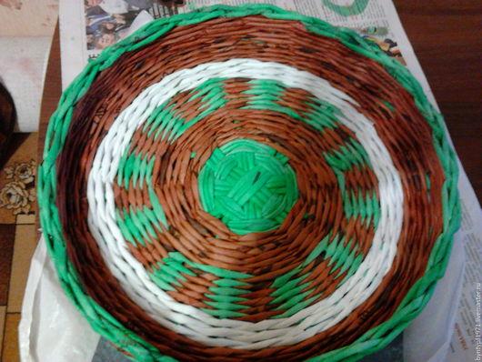 Корзины, коробы ручной работы. Ярмарка Мастеров - ручная работа. Купить плетение из газетных трубочек. Handmade. Комбинированный, для фруктов