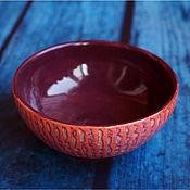 """Посуда ручной работы. Ярмарка Мастеров - ручная работа Пиала """"Малиновка"""". Handmade."""