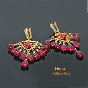 Украшения handmade. Livemaster - original item Earrings CHANDLER LIPES red spinel Manual Author`s work. Handmade.
