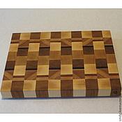 Для дома и интерьера ручной работы. Ярмарка Мастеров - ручная работа Торцевая разделочная доска 30х40х4. Handmade.