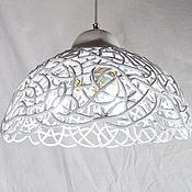 Для дома и интерьера handmade. Livemaster - original item White openwork lamp with three lamps and sconces. Handmade.