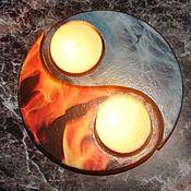 Для дома и интерьера ручной работы. Ярмарка Мастеров - ручная работа Подсвечники инь-янь Лед и пламя. Handmade.