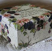 """Для дома и интерьера ручной работы. Ярмарка Мастеров - ручная работа Чайная коробка """"Ежевика"""". Handmade."""