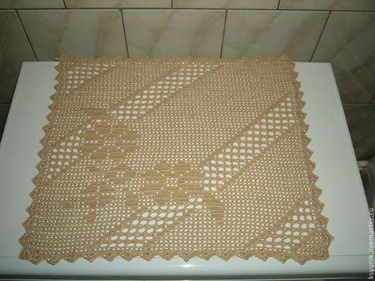 Текстиль, ковры ручной работы. Ярмарка Мастеров - ручная работа. Купить Салфетка вязаная № 047. Handmade. Бежевый