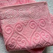 Для дома и интерьера handmade. Livemaster - original item 50x90cm pink towel. Handmade.
