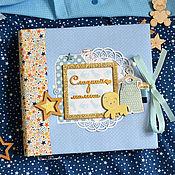 Подарки к праздникам ручной работы. Ярмарка Мастеров - ручная работа Фотоальбом для малыша от рождения до года, подарок новорожденному.. Handmade.