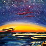 """Картины и панно ручной работы. Ярмарка Мастеров - ручная работа """"Ночь"""". Handmade."""