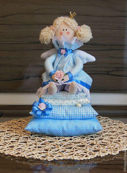 Флёр. Принцесса на горошине. Ангел голубой мечты. Ручная работа.