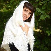 Аксессуары handmade. Livemaster - original item 200 shawl openwork white,accessories. Handmade.