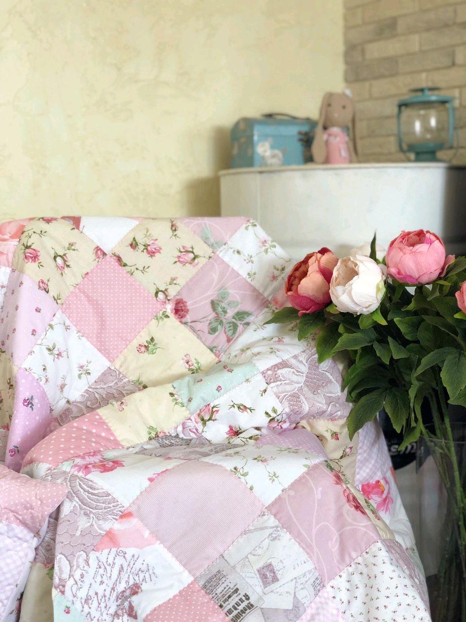 "Лоскутное одеяло ""Романтика"", Одеяла, Орск,  Фото №1"