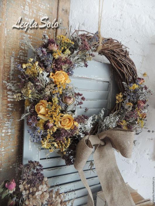 Венок на дверь пасхальное украшение в подарок на праздник Светлой Пасхи
