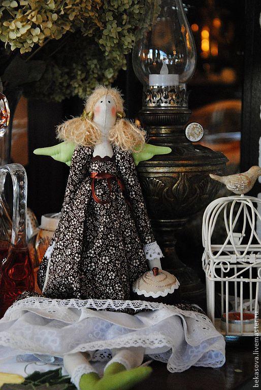 """Куклы Тильды ручной работы. Ярмарка Мастеров - ручная работа. Купить Тильда """"Кофейный Ангел"""". Handmade. Коричневый, интерьерная кукла"""
