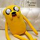 Сказочные персонажи ручной работы. Заказать Adventure Time Джейк большой (80 см). Тамара Никитина (Флисовый Уголок). Ярмарка Мастеров.