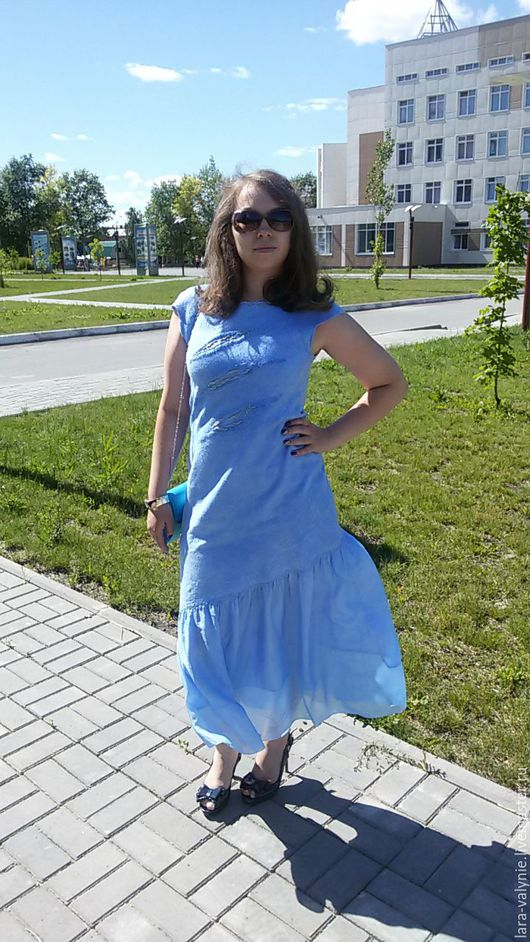 Платье валяное, ручная работа. Ярмарка мастеров.