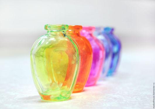 Миниатюра ручной работы. Ярмарка Мастеров - ручная работа. Купить Цветные бутылочки 2. Handmade. Бутылочки, кукольный домик