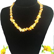 Работы для детей, handmade. Livemaster - original item Amber beads Light yellow natural white amber unprocessed. Handmade.