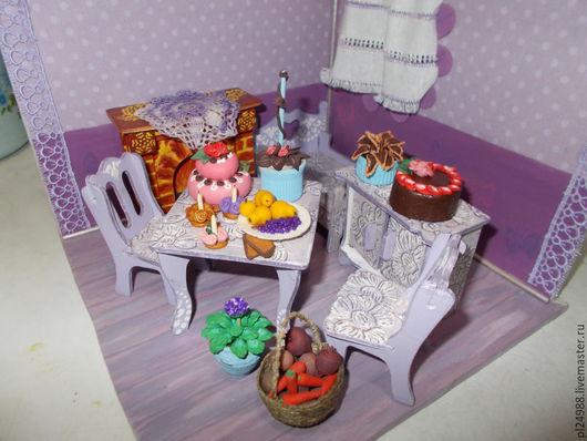 Тортики, овощи, фрукты, вкусняшки, цветочки.