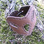 Украшения handmade. Livemaster - original item Gothic leather bracelet. Handmade.