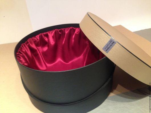 Подарочная упаковка лёгкий работы. Ярмарка Мастеров - ручная работа. Купить Большая шляпная коробка чёрного цвета не без; шафрановый крышкой.. Handmade.