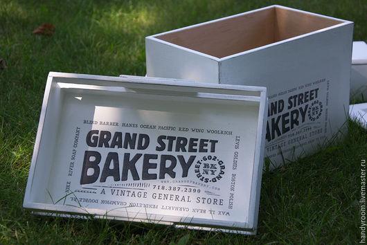 Кухня ручной работы. Ярмарка Мастеров - ручная работа. Купить Хлебница «Grand street bakery». Handmade. Белый, винтаж