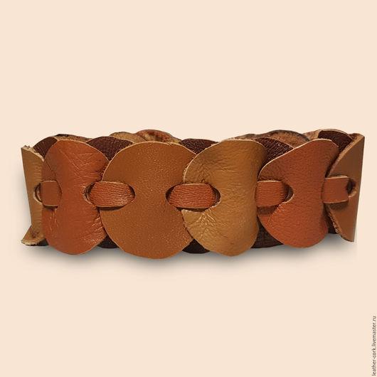 Браслеты ручной работы. Ярмарка Мастеров - ручная работа. Купить Браслет из натуральной кожи (вареная сгущенка). Handmade. Кожаный браслет