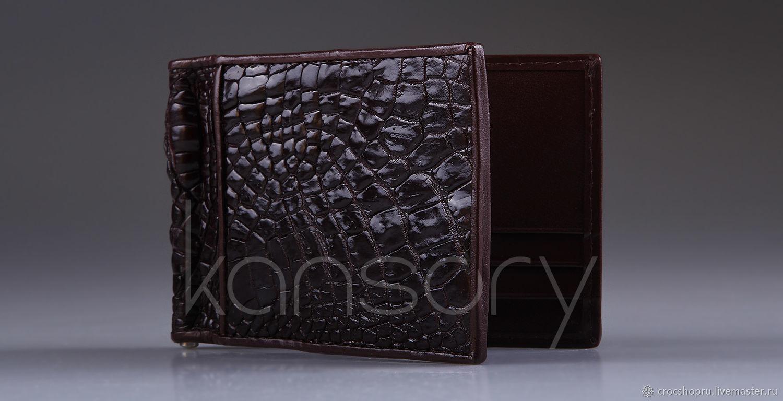 Зажим для денег из кожи крокодила IMA0026K5, Кошельки, Москва, Фото №1