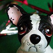 Куклы и игрушки ручной работы. Ярмарка Мастеров - ручная работа Французский бульдог. Handmade.