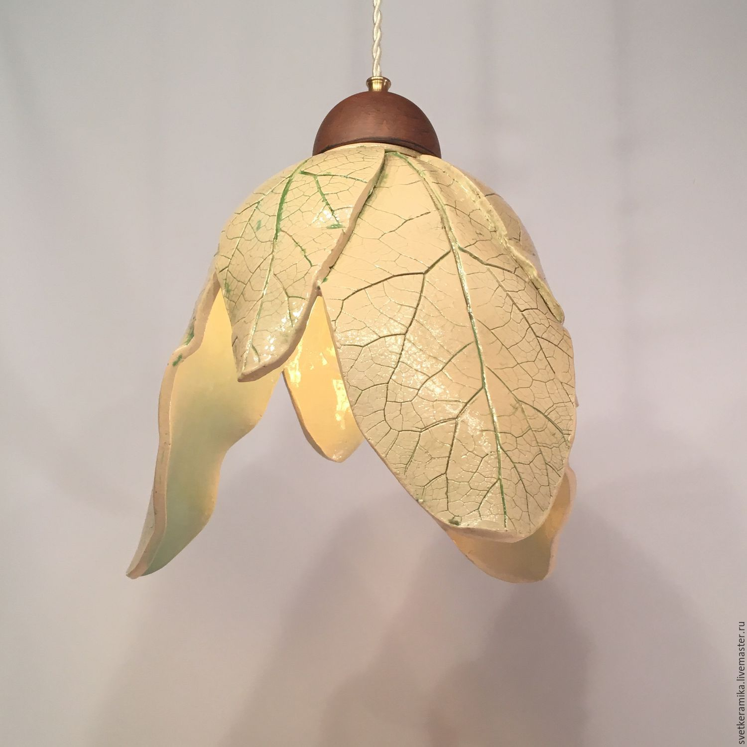 Ceramic Lamp Shadeleaves Shop Online On Livemaster With