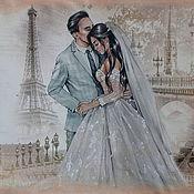 handmade. Livemaster - original item Photo album wedding: Lovers in Paris. Handmade.