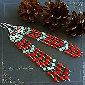 Украшения handmade. Livemaster - original item Very long earrings