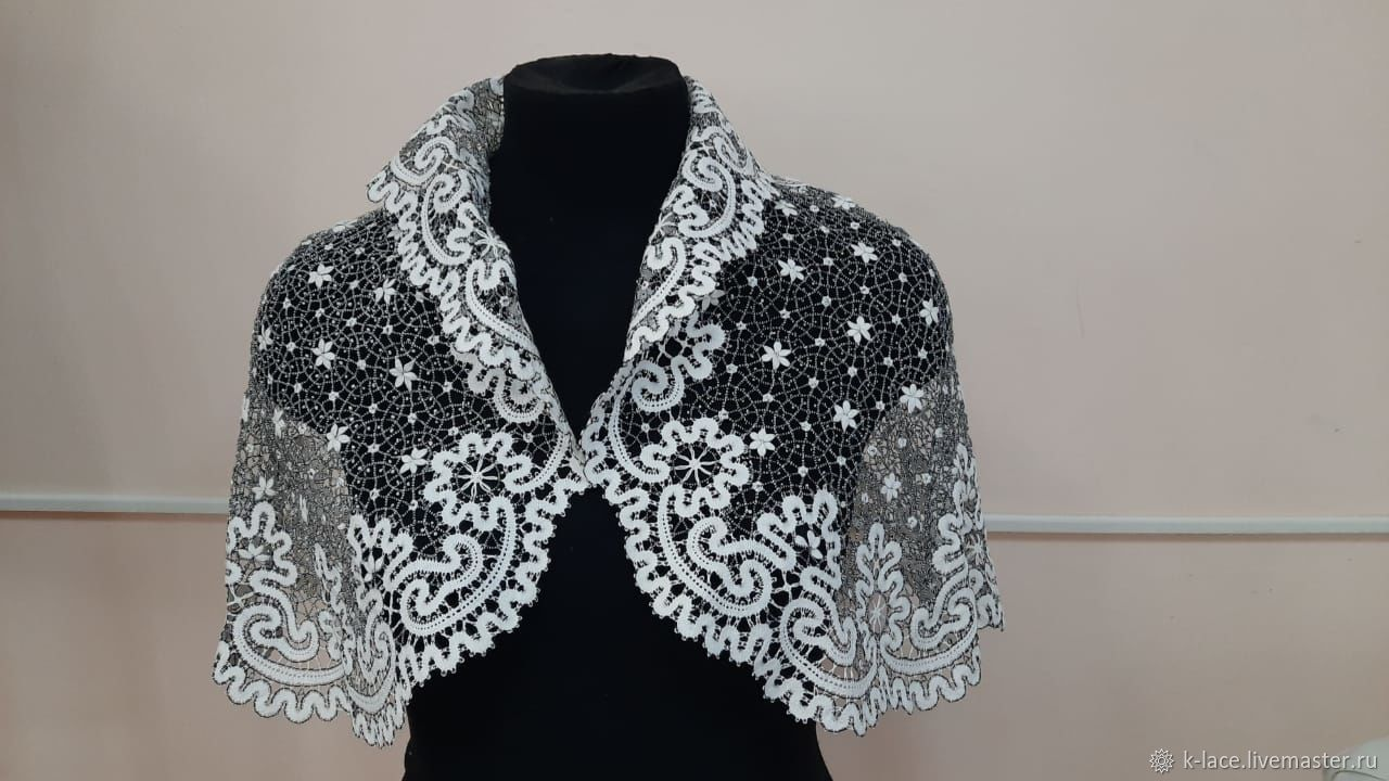 Openwork cape Vyatka lace, Capes, St. Petersburg,  Фото №1