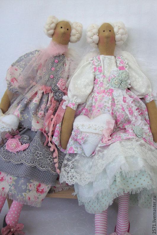 Куклы Тильды ручной работы. Ярмарка Мастеров - ручная работа. Купить Ангел в стиле Шебби - Мелани. Handmade. Бледно-розовый