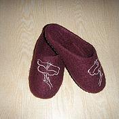 Обувь ручной работы. Ярмарка Мастеров - ручная работа Валяные тапочки детские. Handmade.