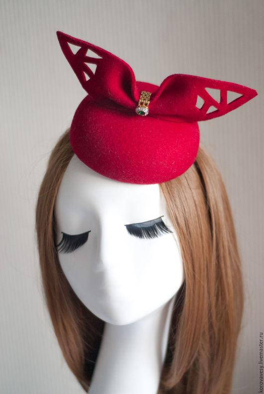 """Шляпы ручной работы. Ярмарка Мастеров - ручная работа. Купить SALE! """"Souvenir"""". Handmade. Ярко-красный, статусная шляпка"""