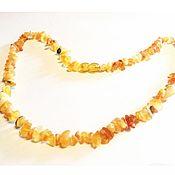 Украшения handmade. Livemaster - original item The Little amber beads Unpolished curative for girls 45 cm. Handmade.