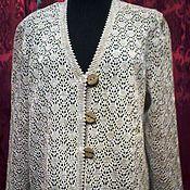 Одежда handmade. Livemaster - original item 100% linen yarn.Cardigan UMBRELLAS. Handmade.