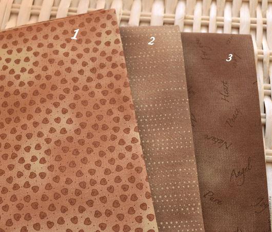 Шитье ручной работы. Ярмарка Мастеров - ручная работа. Купить 3 ткани-компаньона Дания. Handmade. Ткань для кукол