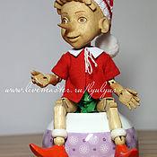 Куклы и игрушки ручной работы. Ярмарка Мастеров - ручная работа Буратино. Деревянная шарнирная кукла.. Handmade.
