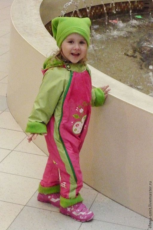 """Одежда для девочек, ручной работы. Ярмарка Мастеров - ручная работа. Купить Комбинезон """"Любимый гном"""". Handmade. Фуксия, флис, Плащёвка"""