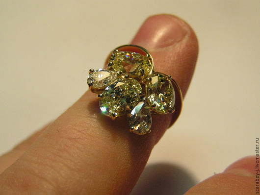 Кольца ручной работы. Ярмарка Мастеров - ручная работа. Купить Золотое кольцо с бриллиантами. Handmade. Золотой, дорогое украшение