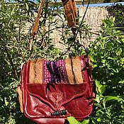 handmade. Livemaster - original item Vintage leather bag, handmade, Burma. Handmade.