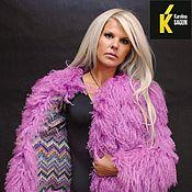 Одежда ручной работы. Ярмарка Мастеров - ручная работа Шуба двусторонняя из ламы розово-лавандовой. Handmade.
