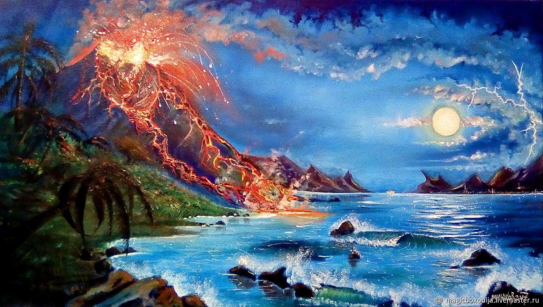 """Картина """"Извержение вулкана"""", Пейзаж, Тобольск, Фото №1"""