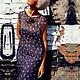 Платья ручной работы. Ярмарка Мастеров - ручная работа. Купить Шифоновое платье в мелкий цветок - ЦВЕТЫ УЛЬТРАФИОЛЕТА. Handmade.