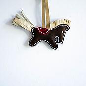 Брелок ручной работы. Ярмарка Мастеров - ручная работа Брелок лошадка кожа. Handmade.