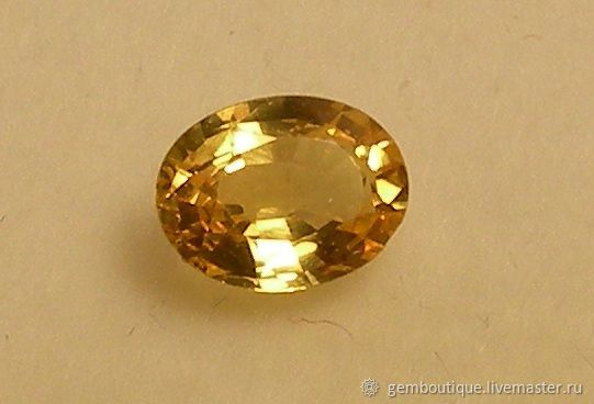 Yellow natural sapphire 0.5 carats, Minerals, Moscow,  Фото №1