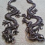 """Украшения ручной работы. Ярмарка Мастеров - ручная работа серьги """" Два Дракона"""". Handmade."""